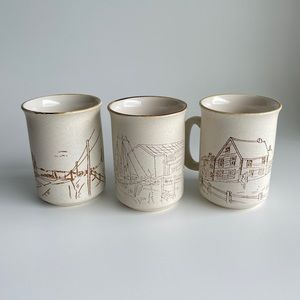Vintage 1980s Collection Manoir Handcrafted set
